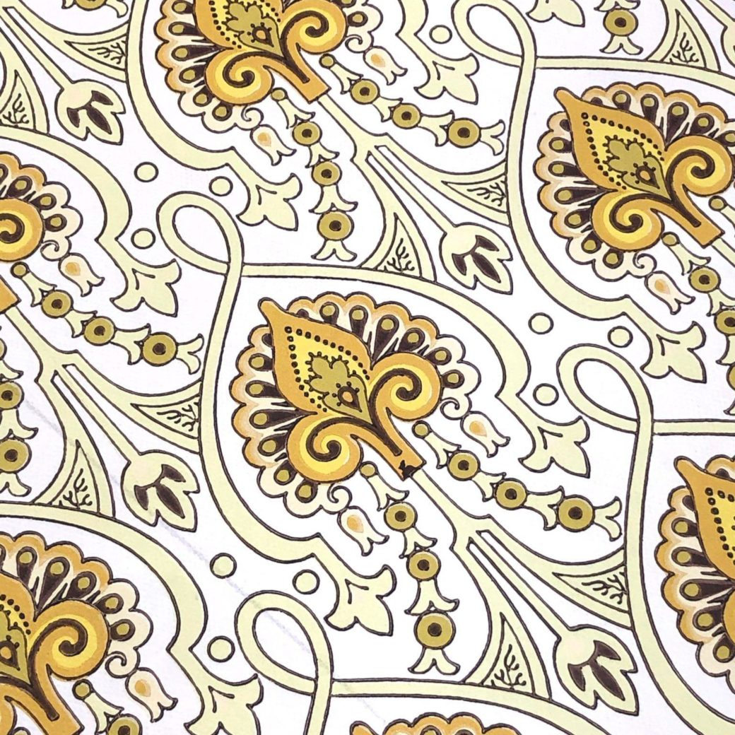 1960s baroque wallpaper