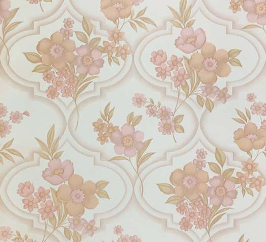 1960s Floral Wallpaper