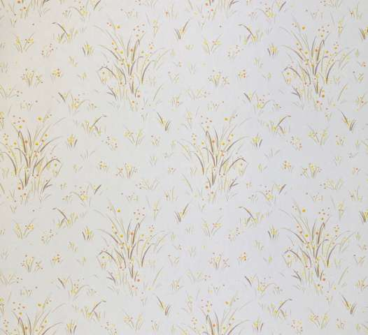 1960s Floral Wallpaper Orange and Yellow 1