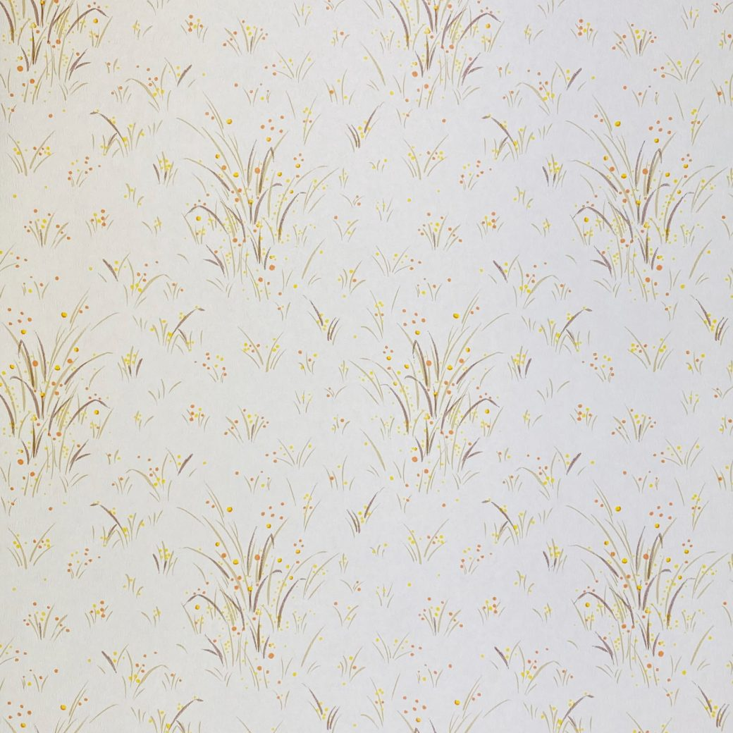1960s Floral Wallpaper Orange and Yellow 3
