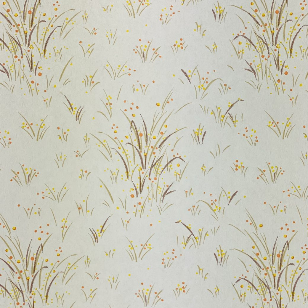 1960s Floral Wallpaper Orange and Yellow 5