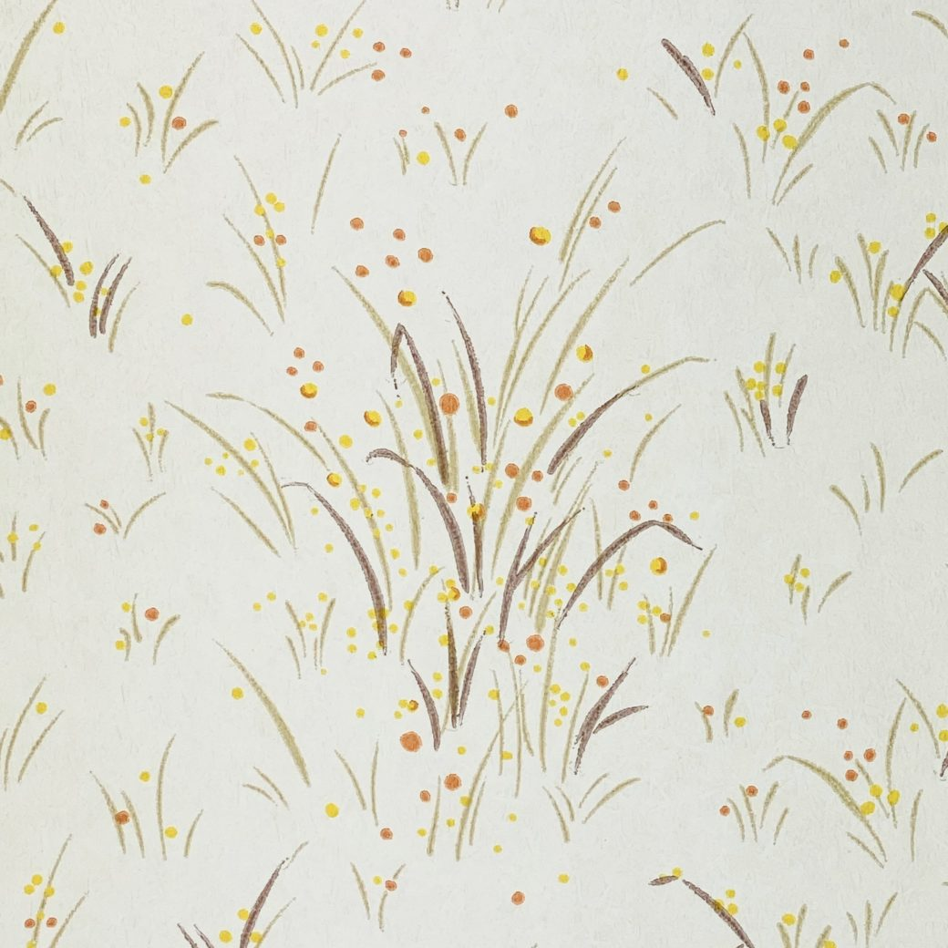 1960s Floral Wallpaper Orange and Yellow 7