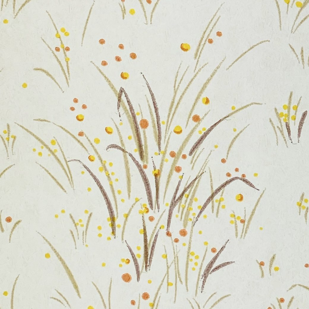 1960s Floral Wallpaper Orange and Yellow 8