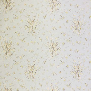1960s Floral Wallpaper Orange and Yellow 2