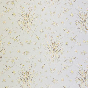 1960s Floral Wallpaper Orange and Yellow 4