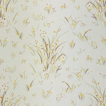 1960s Floral Wallpaper Orange and Yellow 6