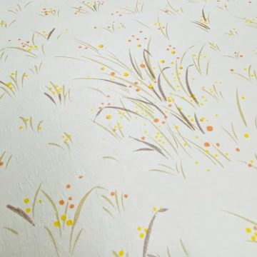 1960s Floral Wallpaper Orange and Yellow 9