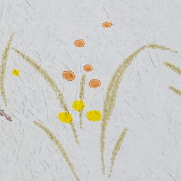 1960s Floral Wallpaper Orange and Yellow 11