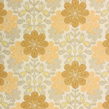 Vintage orange floral wallpaper 1