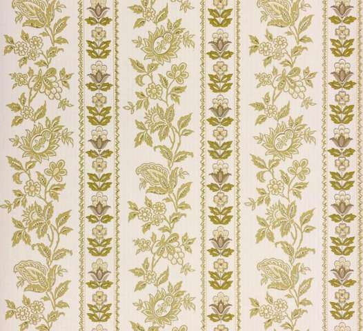 Vintage striped wallpaper with flower pattern 4