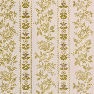 Vintage striped wallpaper with flower pattern 3