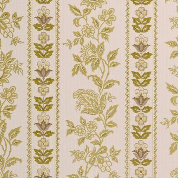 Vintage striped wallpaper with flower pattern
