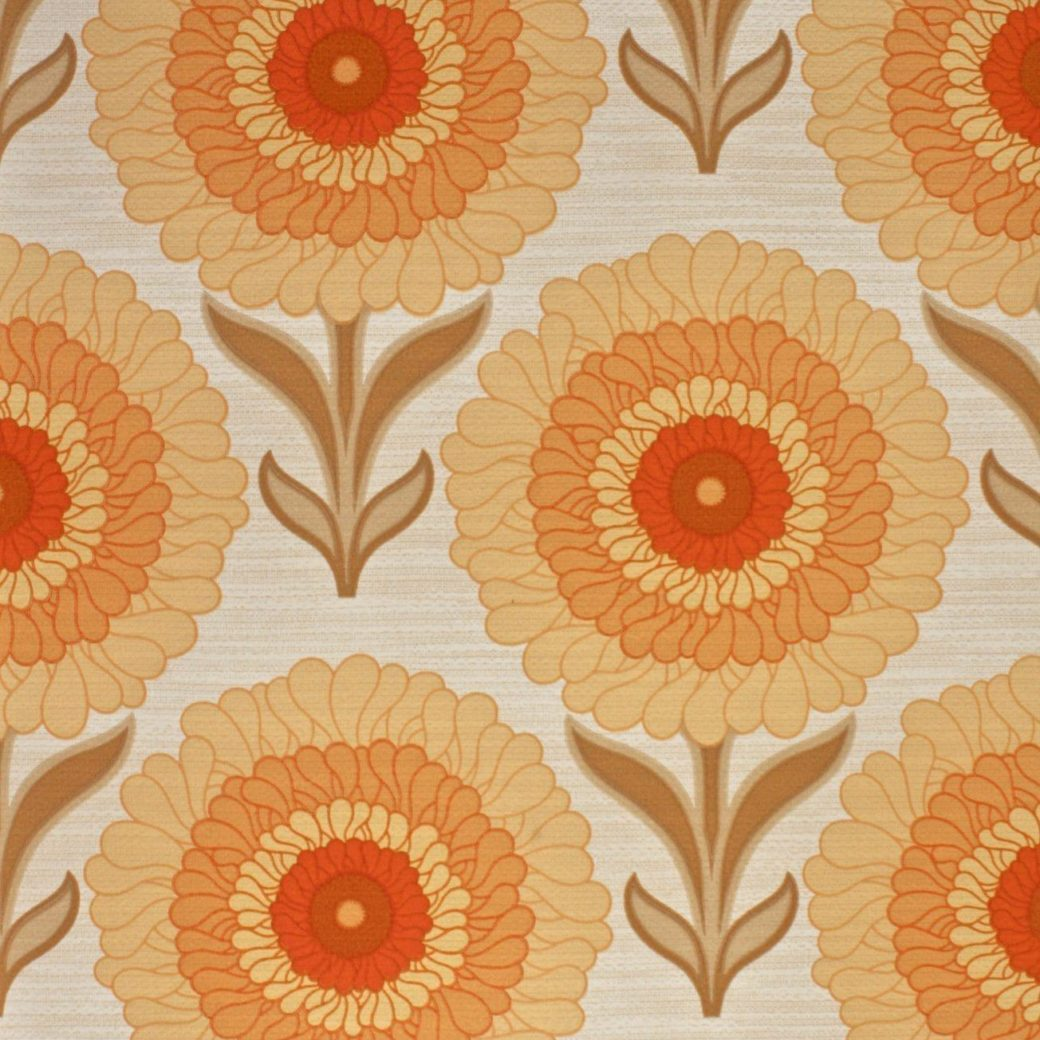 1970s bright floral wallpaper 3