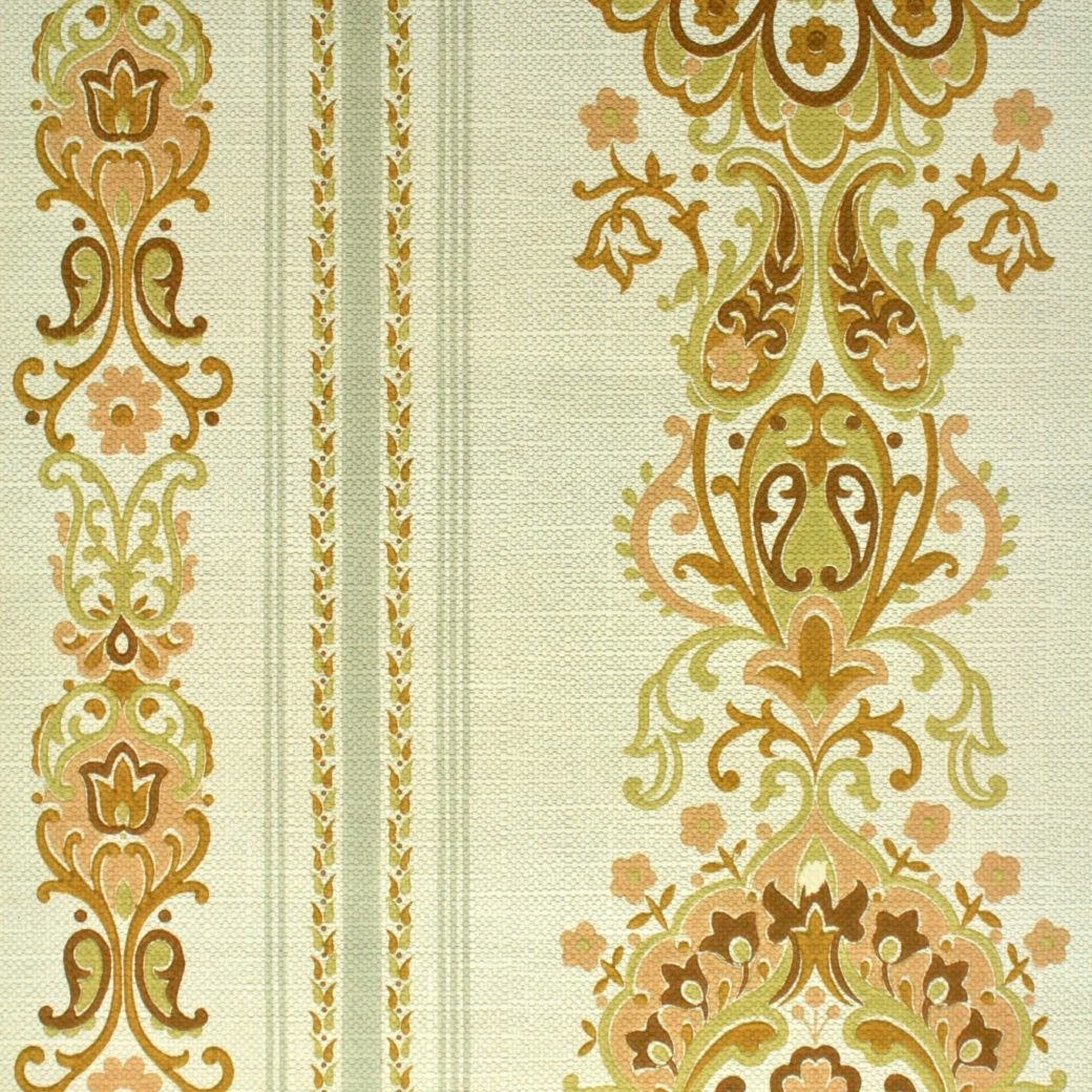 1970s damask vintage wallpaper 2