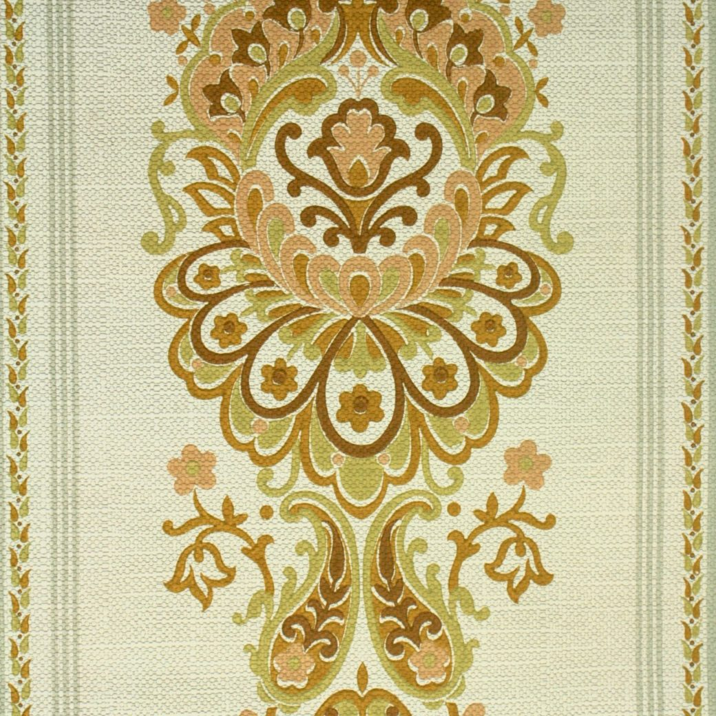 1970s damask vintage wallpaper1