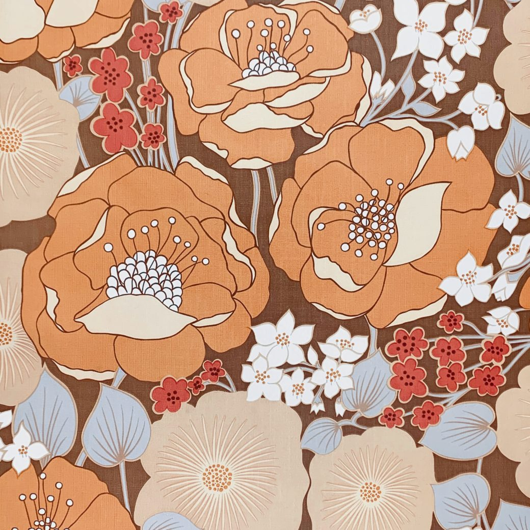1970s Floral Wallpaper 1