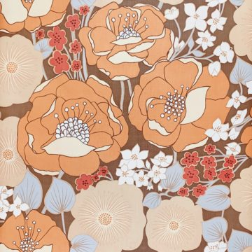 1970s Floral Wallpaper