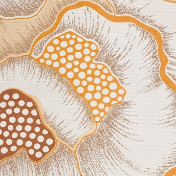 1970s Floral Wallpaper Orange 1