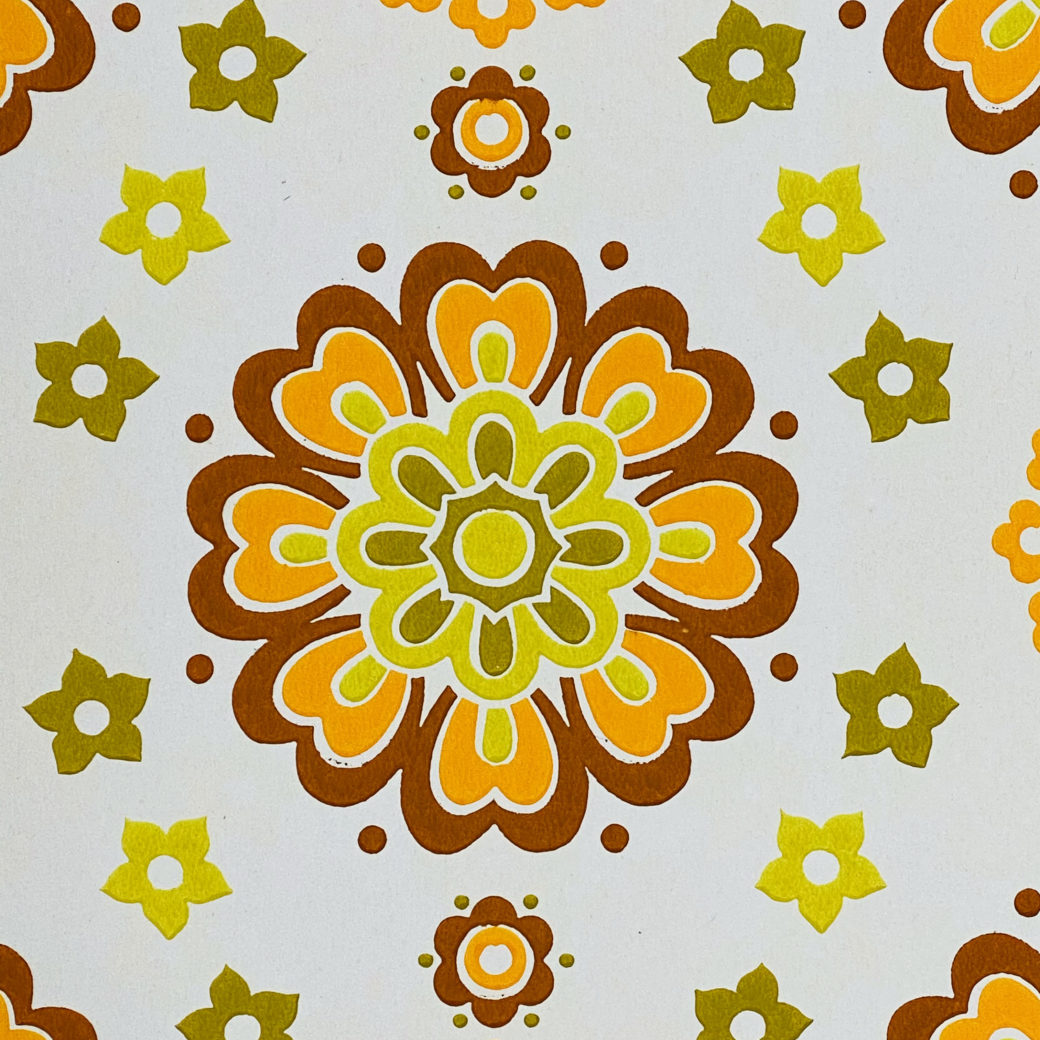 1970s Funky Retro Floral Wallpaper 7