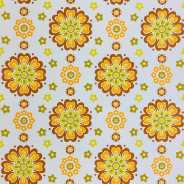 1970s Funky Retro Floral Wallpaper 1
