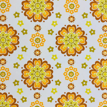 1970s Funky Retro Floral Wallpaper 3