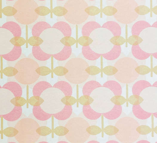 1970s Pink Floral Wallpaper
