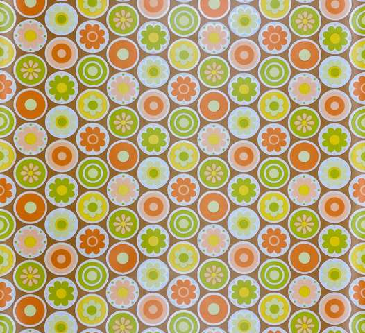 1970s Retro Geometric Wallpaper