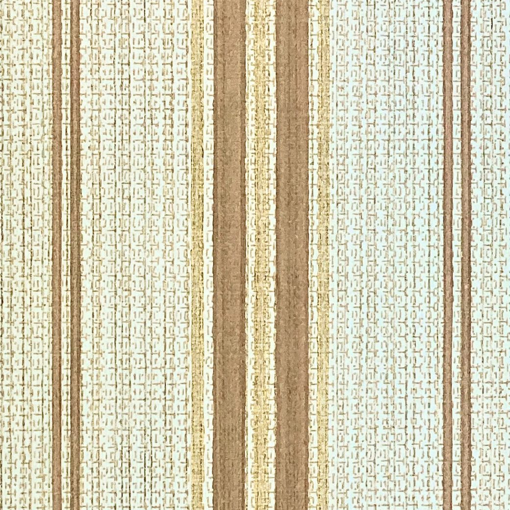 1970s Striped Wallpaper Brown and Gold 5