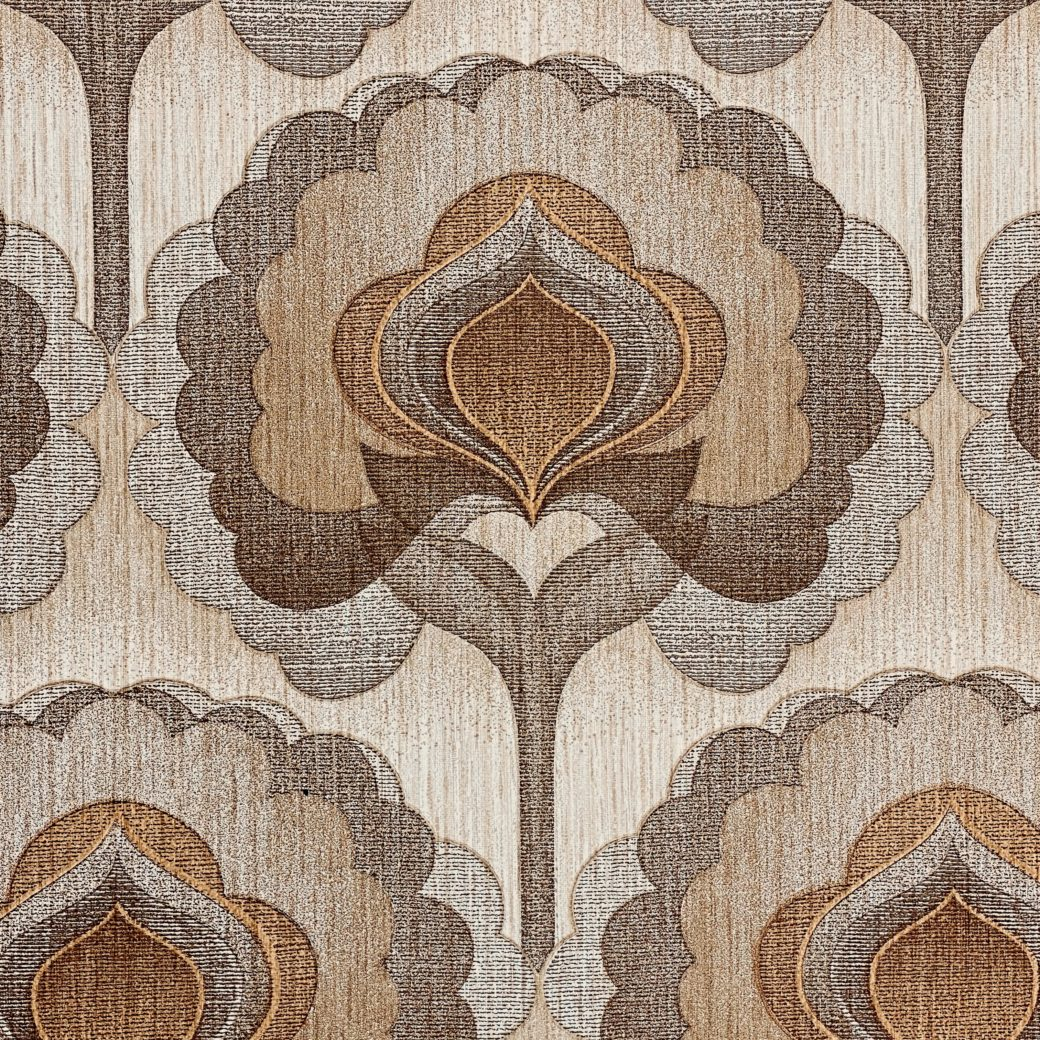 1970s Vintage Retro Wallpaper Brown 3