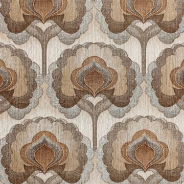 1970s Vintage Retro Wallpaper Brown 1
