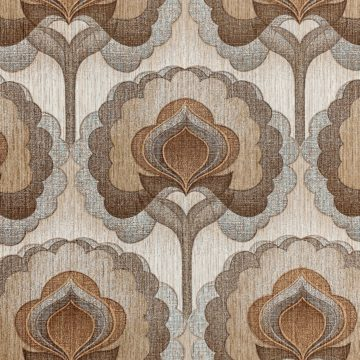 1970s Vintage Retro Wallpaper Brown 2