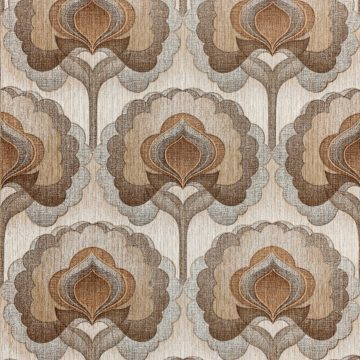 1970s Vintage Retro Wallpaper Brown
