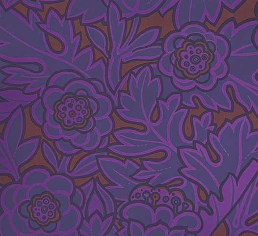 1980s Floral Wallpaper