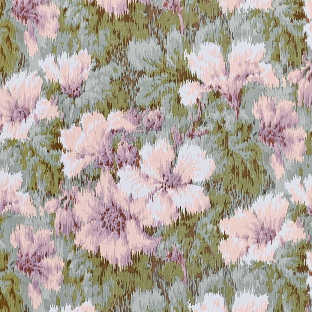 1980s graphic floral wallpaper 3