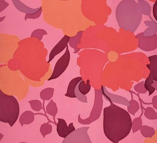 1980s pink floral wallpaper 1