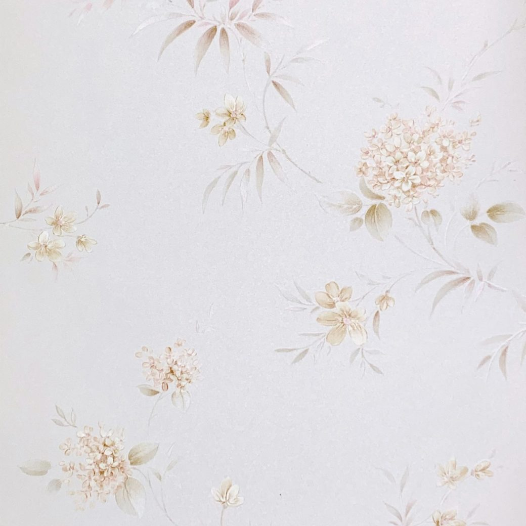 1980s romantic floral wallpaper 2