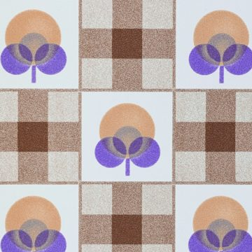 Abstract Floral Wallpaper With Cheques Pattern 10