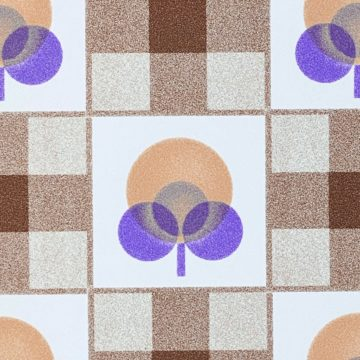 Abstract Floral Wallpaper With Cheques Pattern 11