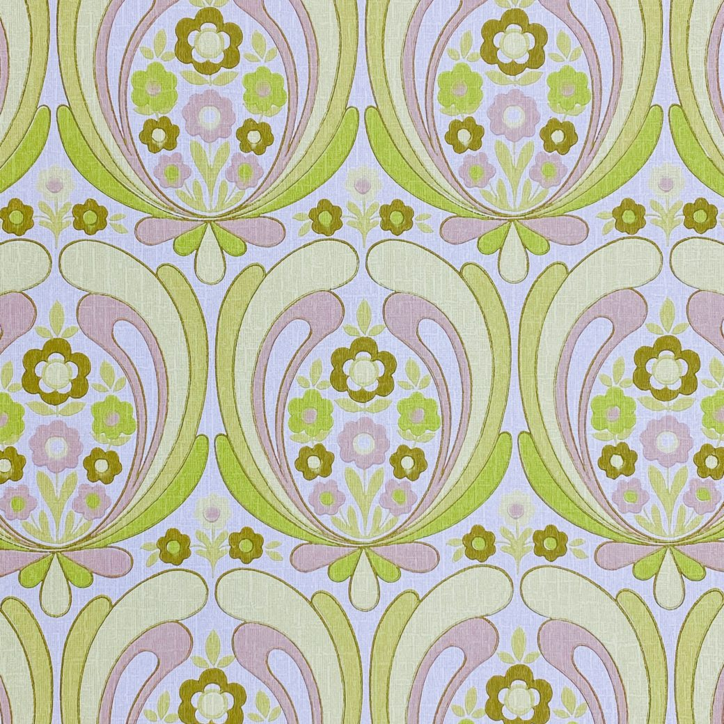 Abstract Retro Floral Wallpaper 2