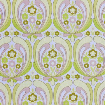 Abstract Retro Floral Wallpaper 1