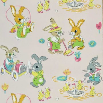 Authentic 1930s childrens wallpaper 4