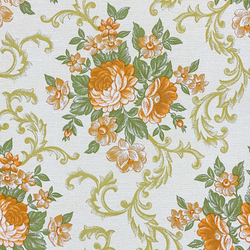 Baroque Style Floral Wallpaper 2