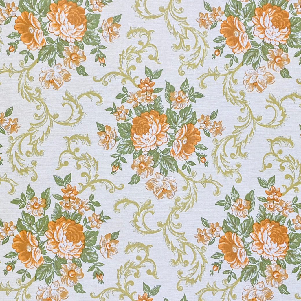Baroque Style Floral Wallpaper 4