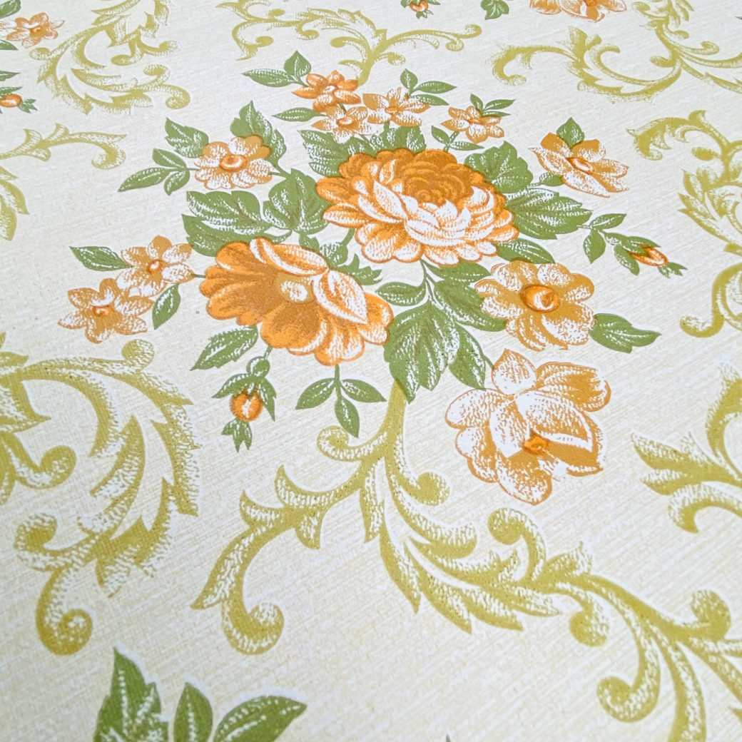 Baroque Style Floral Wallpaper 7