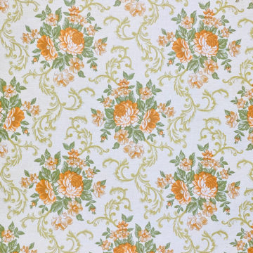 Baroque Style Floral Wallpaper