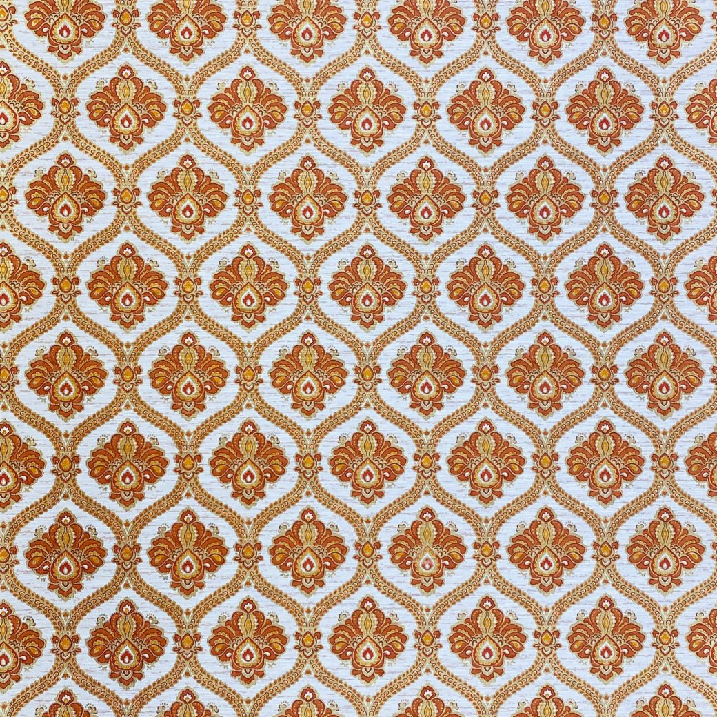 Baroque Wallpaper Gold and Brown 1