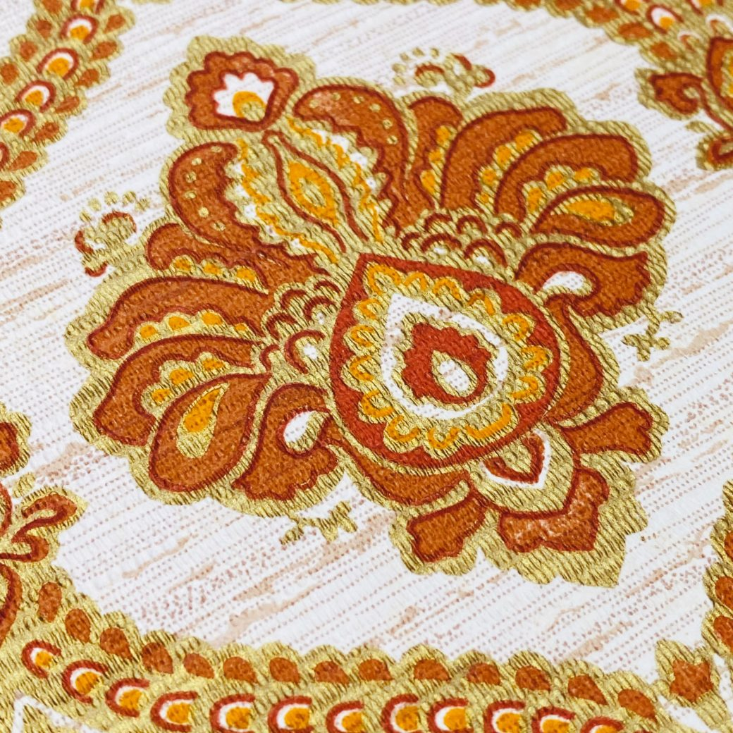 Baroque Wallpaper Gold and Brown 10
