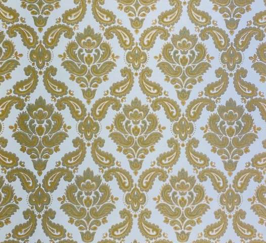 Baroque Wallpaper Green and Gold 2