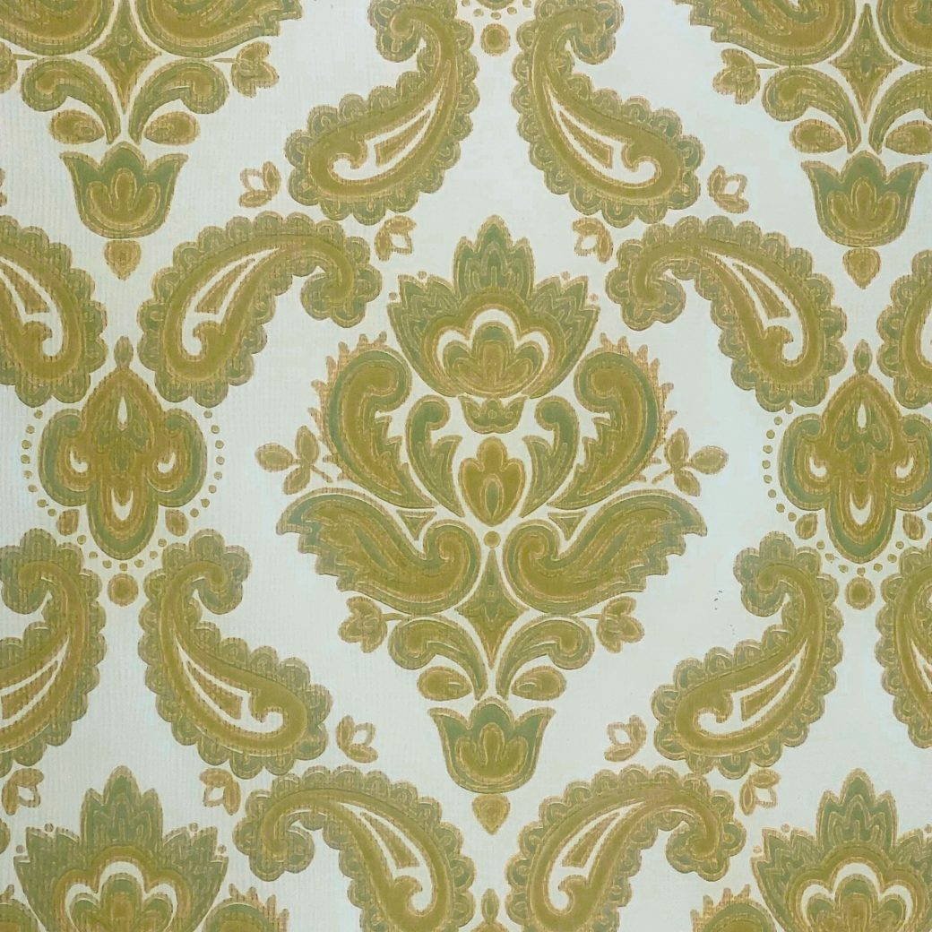 Baroque Wallpaper Green and Gold 6