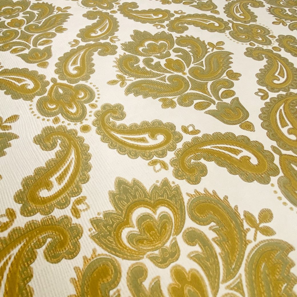 Baroque Wallpaper Green and Gold 7